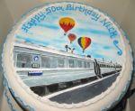 Hot Air Balloons and Train
